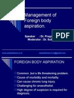 Foreign Body Aspiration.