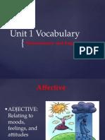 unit 1 vocabulary ppt