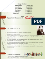 supply chain at coca cola Pakistan