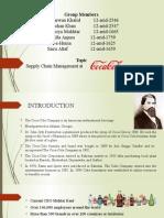 supply chain at coca cola Pakistan
