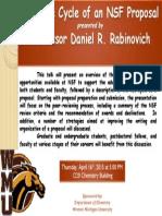 Dr. Daniel Rabinovich -- Life Cycle of an NSF Proposal