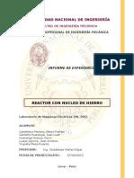 Reactor con nucleo de hierro - Informe