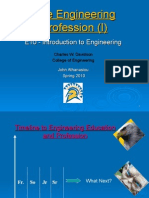 Engineering as a Profession I