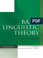 Basic Linguistic Theory Vol 3