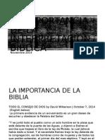 La Importancia de La Interpretación Bíblica