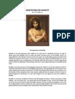 Meditations on Humility - Rev R F Clarke, S.J.