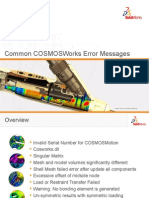 Common COSMOSWorks Error Messages