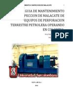Guia de Mantenimiento e Inspeccion de Malacate Del Equipo de Perforacion Terrestre Petrolera Oper