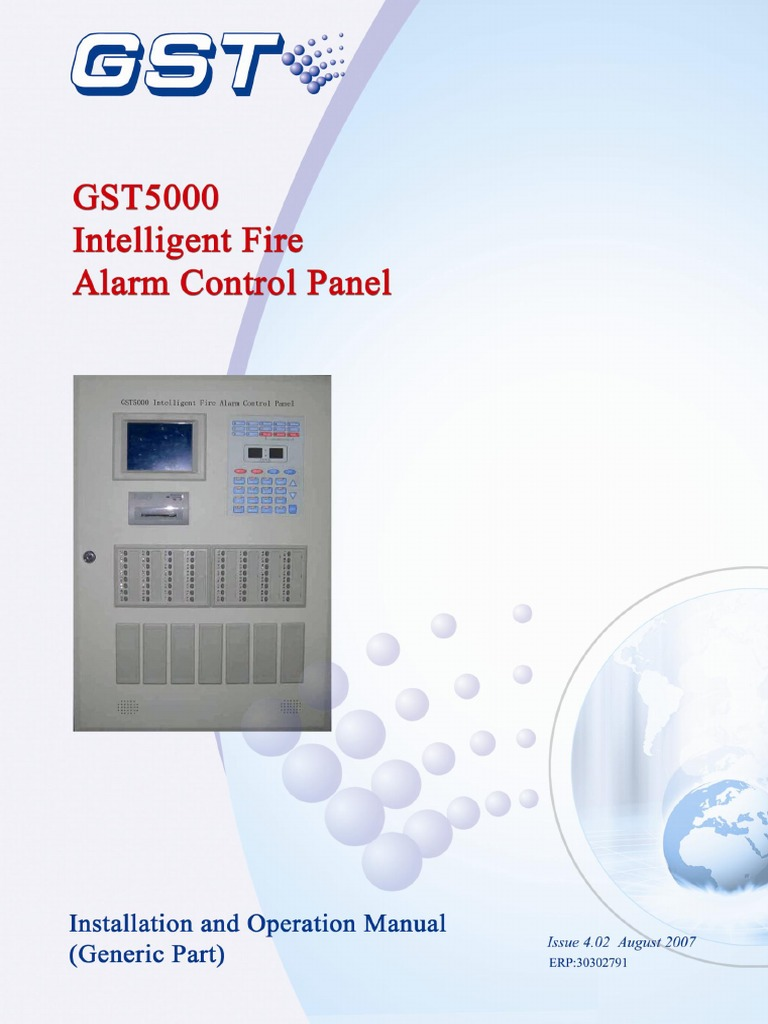 Gst5000 Intelligent Fire Alarm Control Panel Issue4 02 Power