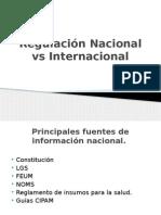 Regulación Nacional vs Internacional