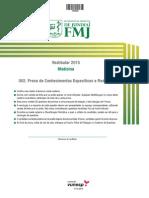 Prova FMJ 2015