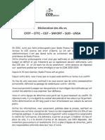 Declaration Des Elu-es Cfdt Cftc Cgt Snfort Sud Unsa
