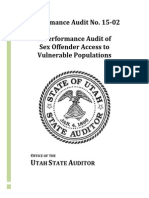 Utah audit on Sex Offender Access to Vulnerable Populations