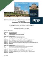 EAES 2015 Scientific Program Bucharest