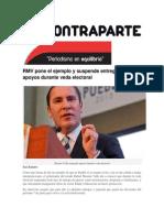 04-04-2015 ContraParte,Mx - RMV Pone El Ejemplo y Suspende Entrega de Apoyos Durante Veda Electoral