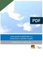 FOCALIZACION DE LA POLITICA MONETARIA