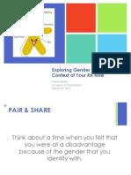Gender Identity Workshop
