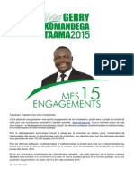 Mes 15 Engagements