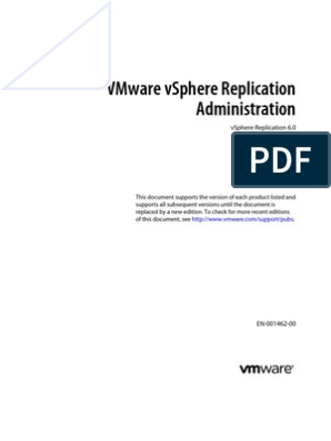 Vsphere Replication 60 Admin | Replication (Computing) | V Mware