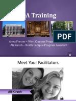 OA Training 2014-15