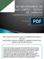Trabajo de Mecánismos de Desarrollo Limpio - Bonos George Garcia