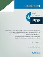 HUSSMANN Karen (2007) La Construccion de Politicas Anticorrupcion en La Práctica