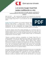 NP OKI Integra El Servicio Google Cloud Print (F)