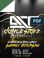Summer Intensive Brochure