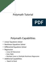 Polymath Tutorial