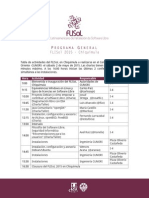 Programa General Flisol 2015