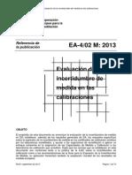 Evaluación de incertidumbre en medidas de calibración