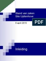 Presentatie Site Uyttenhove_8 April 2015