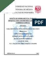 DISEÑO DE HERRAMENTAL PARA UN TROQUEL PARA GEOMETRÍAS SIMPLES Y CORRIDAS CORTAS.
