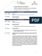 Agenda II Cumbre Empresarial de Las Americas.