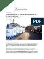 04-04-2015 Unión Puebla - Gobernador Pone en Marcha Pavimentación de La Puebla-Amozoc