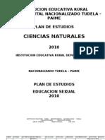 Plan de estudios educación sexual  2010. I.E.D Tudela, Paime
