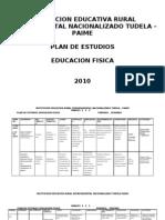 Plan de estudios Educación física 2010. I.E.D Tudela, Paime