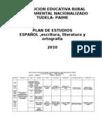 Plan de estudios español 2010. I.E.D Tudela, Paime