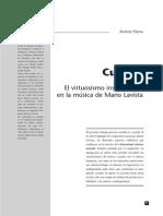 BEATRIZ PLANA_El Virtuosismo Musical en La Música de Mario Lavista