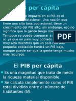 Macro (3) PIB Per Cápita. Consumo, Ahorro e Inversión
