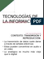 Diapositivas sobre nuevas tecnologías e internet