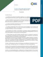 Carta Transdisciplinariedad