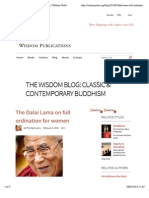 The Dalai Lama on full ordination for women | Wisdom Publications