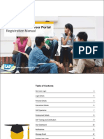 SAP Education Career Portal Manual