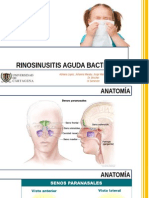 Rinosinusitis aguda bacteriana pediatría