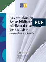 Contribucion Bibliotecas Publicas al Desarrollo
