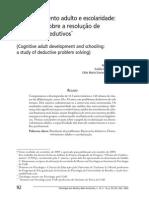 Desenvolvimento Adulto e Escolaridade, Um Estudo Sobre a Resolução de Problemas Dedutivos