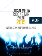 Social Media Rockstar Event Sponsorship Brochure