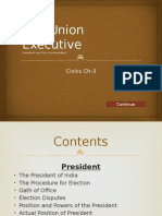 The Union Executive (President and the Vice-President)
