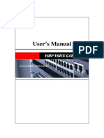 Voip GW Usermanual